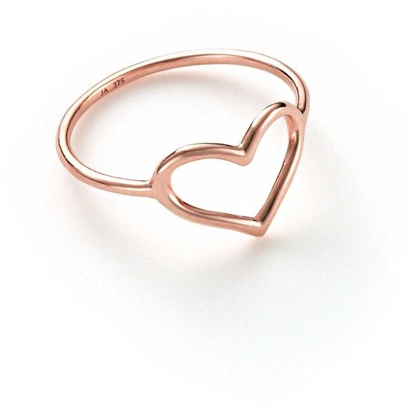 Jordan Askill Heart Ring - Rose Gold ($245) ❤ liked on Polyvore .