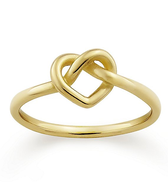 James Avery 14K Gold Delicate Heart Knot Ring | Dillard