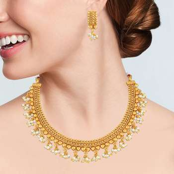 Gold necklace-sets - Asmitta - 26382