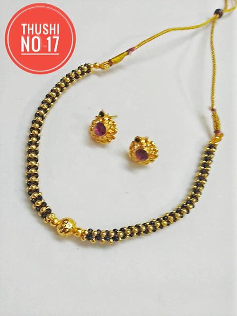 Traditional Jewellery Gold Plated MaharashtrianThushi Mangalsutra .