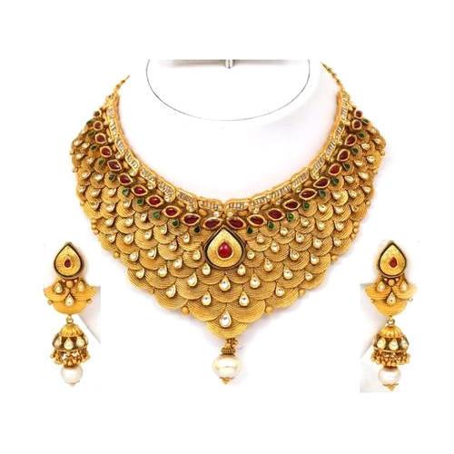 Party Wear Women Gold Necklace Set, Rs 200000 /set, Prem Jewellers .