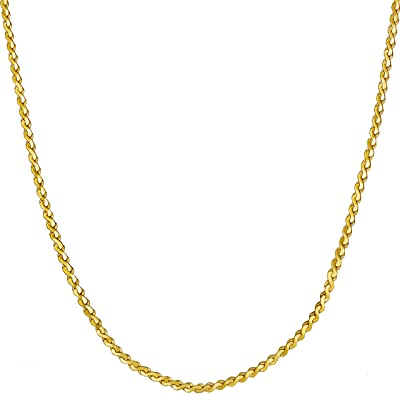 Amazon.com: Lifetime Jewelry Gold Necklace for Women & Girls [ 1.4 .