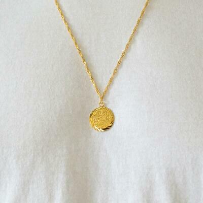 Babylonian Persian Coin Necklace Pendant Men & Women Necklaces 24k .