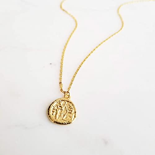 Amazon.com: Coin Necklace, Medallion Necklace, Gold Pendant .