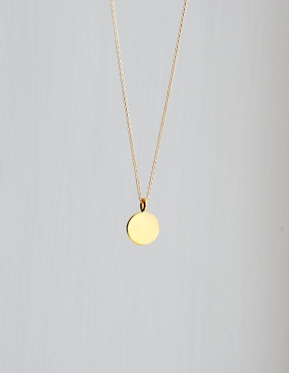 Gold Pendant Necklace For Everyday Life | Engraved necklace, Gold .