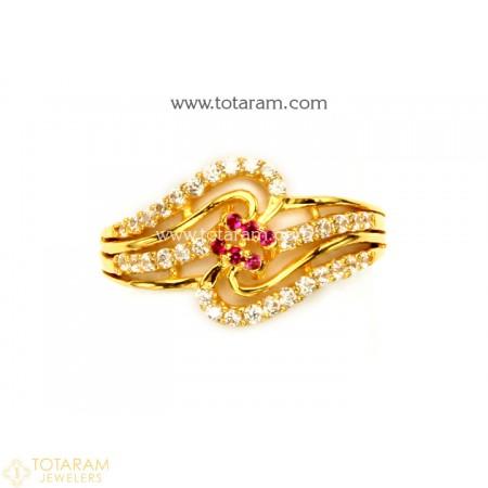 Gold Rings for Women -22k Yellow Gold Rings -Gold Filigree Rings .