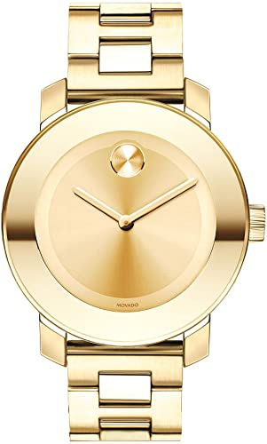 Amazon.com: Movado Women's BOLD Iconic Metal Yellow Gold Watch .