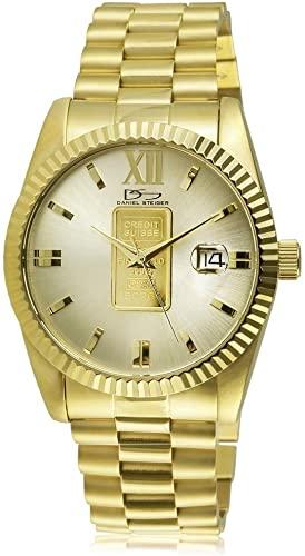 Amazon.com: Daniel Steiger 24K Gold Ingot Men's Watch - Genuine 1g .