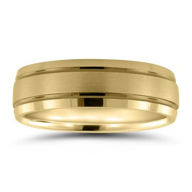 Men's yellow gold wedding ring | Freedman Jewelers Boston .
