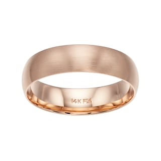 10k Rose Gold Wedding Ba