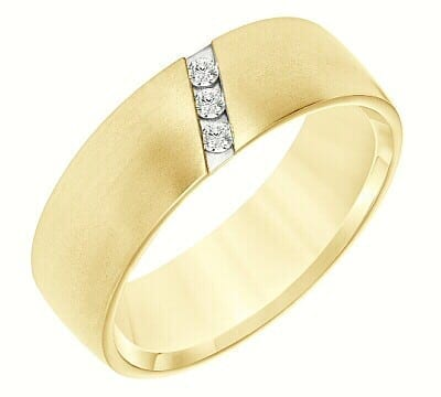 14K Yellow Gold Men's Diamond Wedding Band, Our #53455099 - Thorpe .