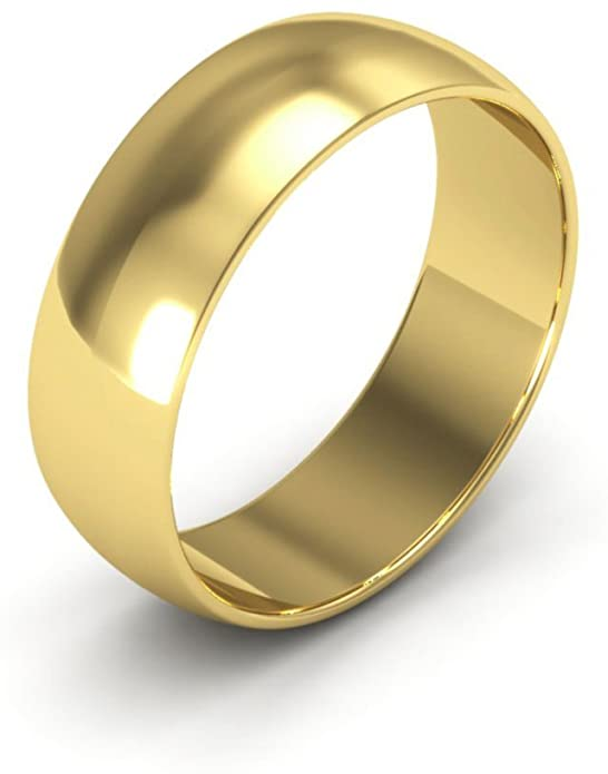 Amazon.com: 14K Yellow Gold men's and women's plain wedding bands .