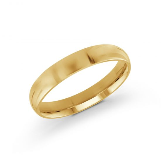 Solid Yellow Gold Wedding Band- 4