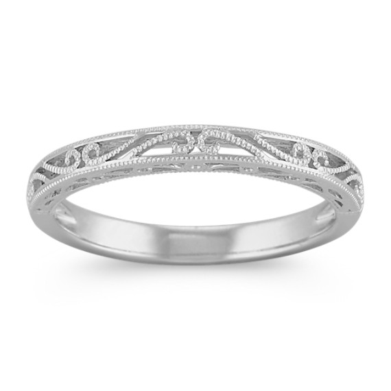 Vintage 14k White Gold Wedding Band | Shane C