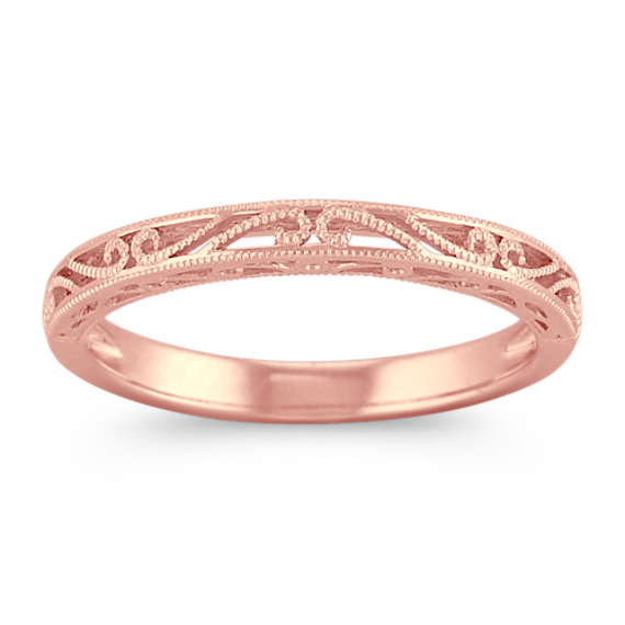 Vintage 14k Rose Gold Wedding Band | Shane C