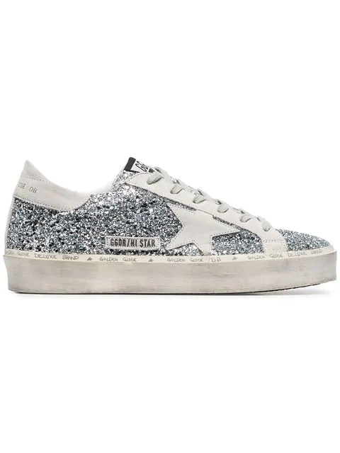 Golden Goose Sneakers Hi Star Silver Glitter-ice Star | ModeSe