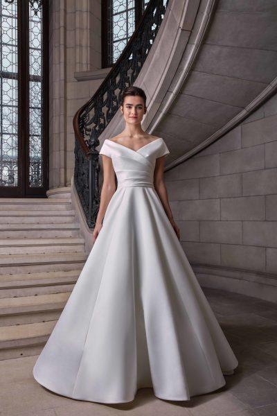 Simple Silk Ball Gown Wedding Dress | Kleinfeld Brid