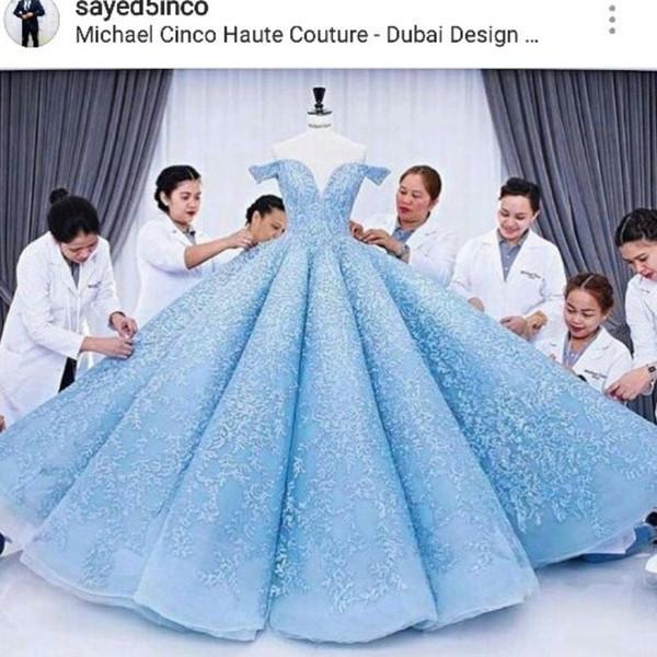 Gorgeous Dubai Design Evening Dress Glamorous Lace Ball Gown .