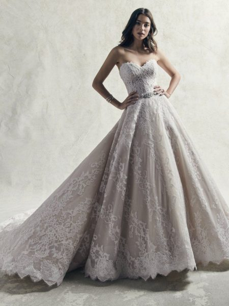 Strapless Sweetheart Lace Ball Gown Wedding Dress | Kleinfeld Brid