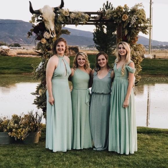 Dresses | Sage Green Bridesmaid Dress | Poshma