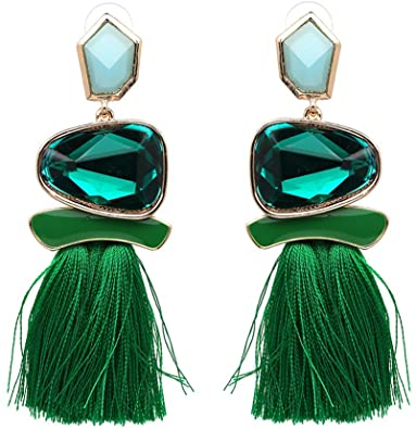 Amazon.com: Tassel Earrings Cute Dangle Crystal Earring Thread .