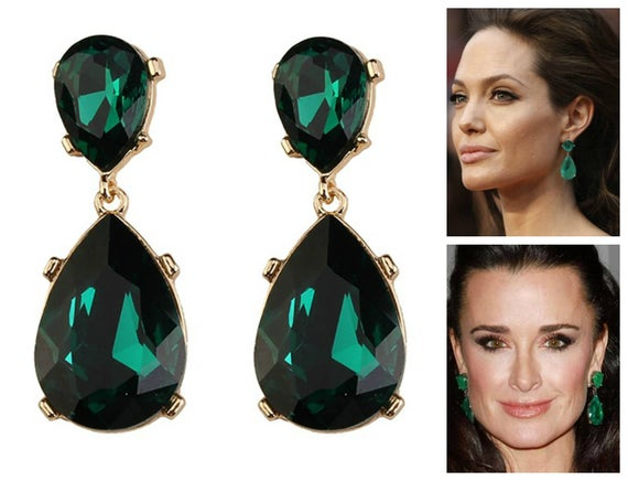 Emerald Earrings Posts Green Angelina Jolie Kyle Richards | Et