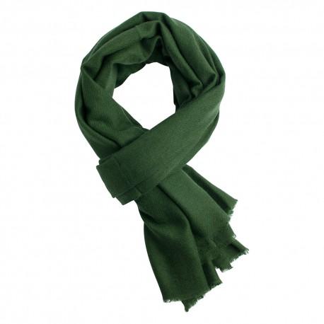 Army green pashmina scarf in cashme