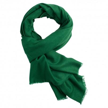 Dark green pashmina scarf in cashme