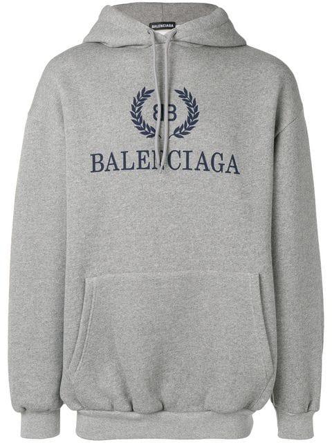 Balenciaga Printed Logo Hoodie Ss20 | Farfetch.c