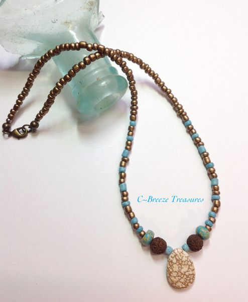 Essential Oil Jewelry Diffuser Beaded Necklace | Beach, Jewelry .