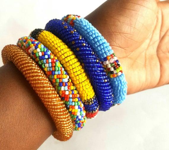 Maasai handmade bracelets women bracelets maasai bangles | Et