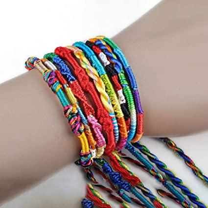 Amazon.com: Hellofishly 100PCS Handmade Wrap Bracelets Bangles .