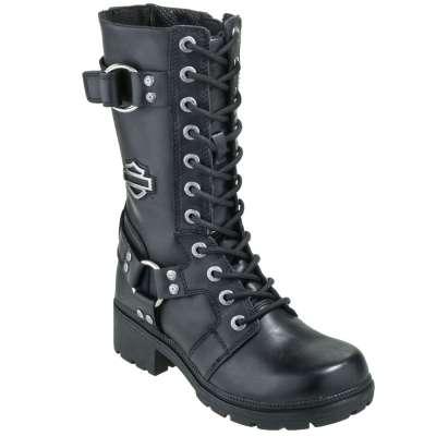 Harley Davidson Boots: Women's 83736 9 Inch Eda Motorcycle Boo