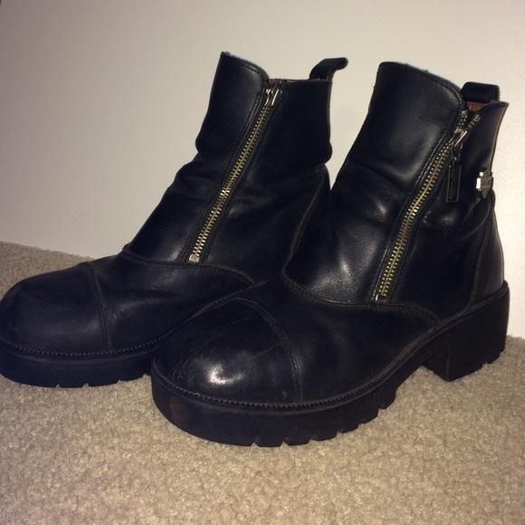 Harley-Davidson Shoes | Harley Davidson Black Double Zip Boots .