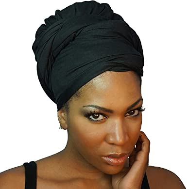 Amazon.com: Head wraps for women Turbans Long Stretch Headwrap .