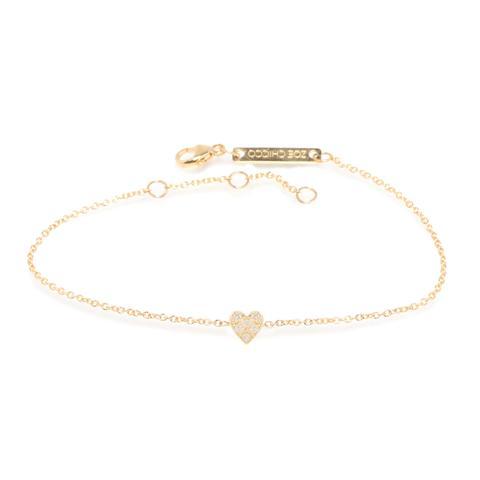 Zoë Chicco – Zoë Chicco 14kt Gold Itty Bitty Pave Heart Bracel
