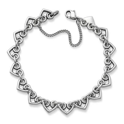Heart Link Charm Bracelet - James Ave