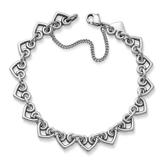 Heart Link Charm Bracelet - James Ave