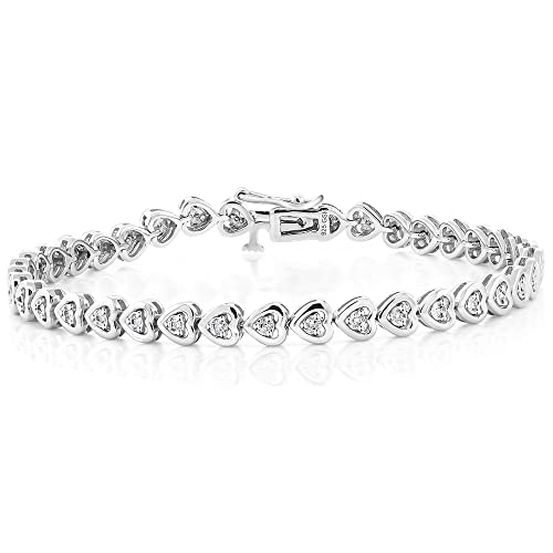 Diamond Heart Bracelet: Amazon.c