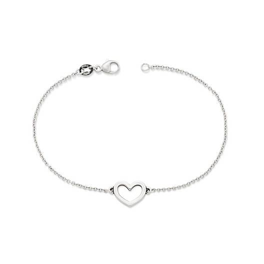 Petite Heart Link Bracelet - James Ave