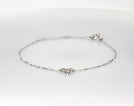 bracelets, diamond bracelets, 14k white gold diamond heart .