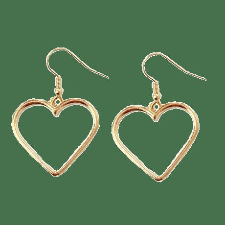 METALLIC VINTAGE HEART EARRINGS · sionoe · Online Store Powered by .