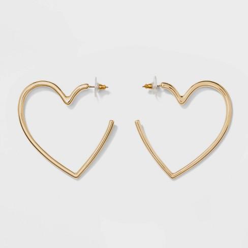 SUGARFIX By BaubleBar Heart Hoop Earrings - Gold : Targ