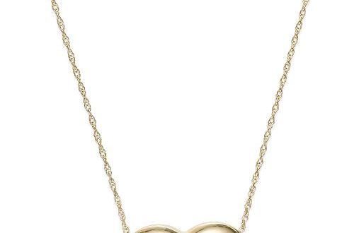 Signature Gold Puffed Heart Pendant Necklace in 14k Gold & Reviews .