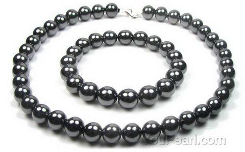 Earrings: hematite jewel