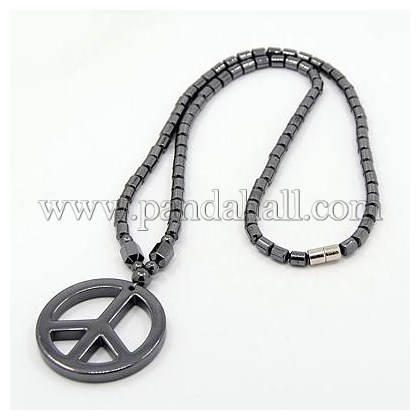 Wholesale Fashionable Magnetic Synthetic Hematite Necklaces, with .