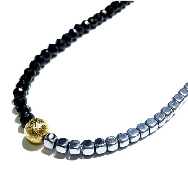comodoviento: The spinel & hematite necklace chain necklace .