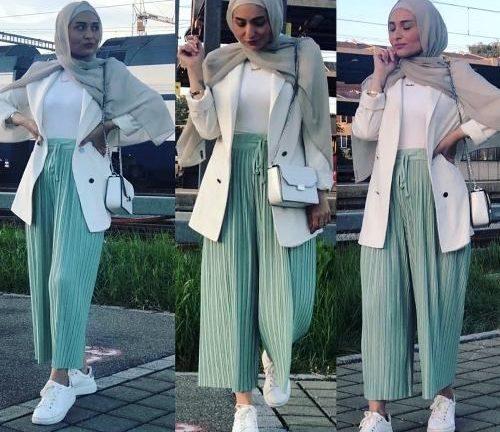 Smart pants with hijab style | | Just Trendy Girls – Hijab Fashi