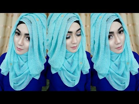 Most Requested Tutorial easy Layered look Hijab Style with saree .