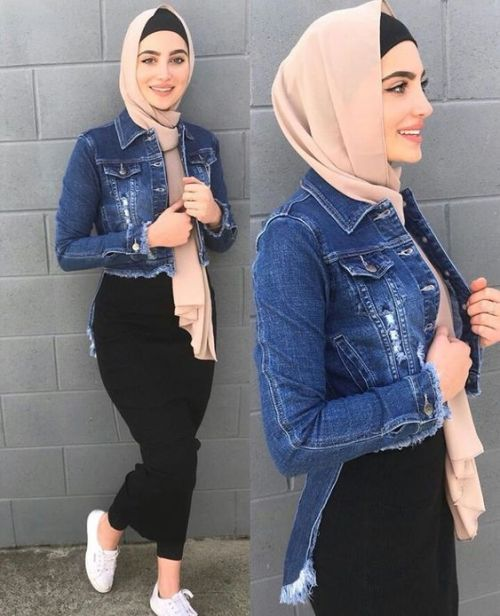 Spring skirts with hijab style | | Just Trendy Gir